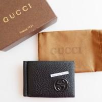 Gucci GC Black Hitam Money Clip Dompet Replica Mirror