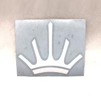 MAHLKONIG Crown Logo Cutting Sticker Large 9cm White (2 units)