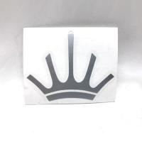MAHLKONIG Crown Logo Cutting Sticker Large 9cm Silver (2 units)