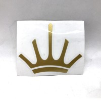 MAHLKONIG Crown Logo Cutting Sticker Medium 6cm Gold (2 units)