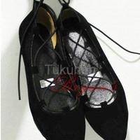 Jual Sepatu Wanita Cewek Flat Shoes Ballerina Hitam Sepatu Wanita Terbaru Murah