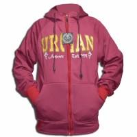 LMG Jaket/Sweater Hoodie Zipper Motif Urgan - Merah Murah