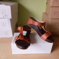 Jual Sepatu Wanita Cewek Wedges Mr92 Tan Terlaris Murah