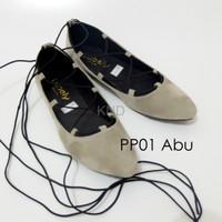 Jual Sepatu Wanita Cewek Khusus Grosir Pp01 Tali Flatshoes Balerina Balle Murah