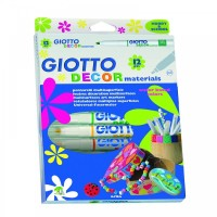 Giotto Decor Material 12 Pcs Water Based / Spidol Kain