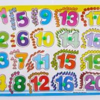 Jual Mainan Edukatif / Edukasi Anak - Puzzle Knop Angka Gambar Berhitung Murah