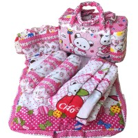 Jual Tas Bantal Guling Gendongan Alas Tidur Perlak Bayi Set 4 in 1 Chekido Murah