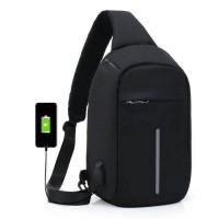 Jual CROSSBODY BAG ANTI THIEFT | TEMPAT USB CHARGER OR PHONE | TAS SLEMPANG Murah