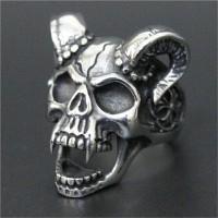 Diablo gothic skull ring / cincin tengkorak impor stainless steel 316L