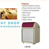 UPRIGHT GLASS DOOR FREEZER GEA LSD-86 PREMIUM ICE CREAM DISPLAY PROMO