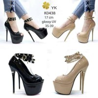 KODE K0438 New Arival High Heel Opentoe Studded Shoes