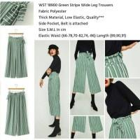 Jual WST 18900 Green Stripe Wide Leg Trousers Murah