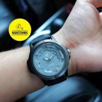 Jam Tangan Pria / Cowok Blackhawk Leather / Kulit Black