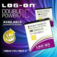 Batre Dobel Power Himax Polymer X Baterai Log On Double Power/2 Ic