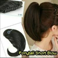 Hair clip blow jepit hairclip rambut palsu wanita hairbun sambung
