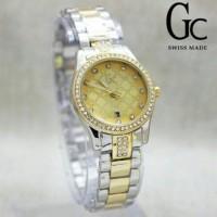 Jam Tangan Wanita GC 1080 Rantai Kombinasi Silver Gold