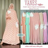 Jual Long Dress Maxi Wanita gaun brokat lace import vanes kaftan XL Murah
