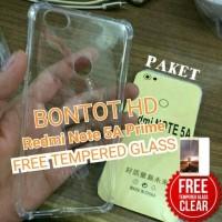 Xiaomi Redmi Note 5a Prime/pro Case Anti Crack + Tempered Glass Bening