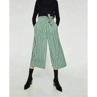 Jual WST 18900 Green Stripe Wide Leg Trousers Celana Wanita Murah