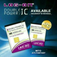 Batre Dobel Power Mito A73 Fantasy/BA-00118 Baterai Log On Double IC