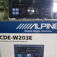 ALPINE CDE W 203 E double din CD USB MP3 PLAYER