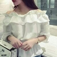 Jual sabrina white blouse cc Murah