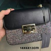TAS CK glitter mini sling kualitas ori china sz.18x13