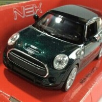 Miniatur Mobil New Mini Hatch Hijau - Welly Nex Skala 1:36