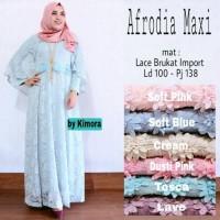 Jual Long Dress Maxi Wanita gaun pesta brokat lace import afrodia cape Murah