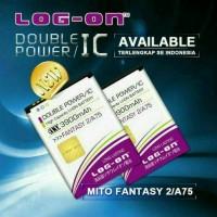Batre Dobel Power Mito Fantasy 2/A75/BA-00064 Baterai Log On Double IC