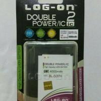 Batre Dobel Power Lg G3 Stylus/bl-53yh Baterai Log On Double Power/ic