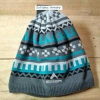 Topi Kupluk Beanie Wool Rajut Eiger Abu Tosca Biru Delphic