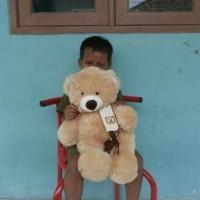 Jual Boneka Teddy Bear Syal Cappucino Uk.55Cm Terbaru Murah