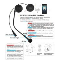 Freedconn L1-M Wireless Headset Bluetooth Helm Musik GPS motor smart
