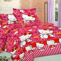 Jual Sprei Crysta 3D Ukuran 160 x 200 Motif Hello Kitty Murah