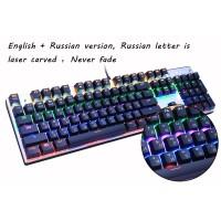 Jual Metoo Mechanical Gaming Keyboard LED 104 Key Blue Switc Berkualitas Murah