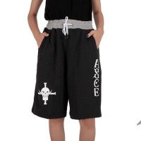 Celana Pendek Anime One Piece (Ace) Hitam - Short Pants Asce Boxser pd