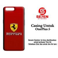 Casing ONE PLUS 5 Ferrari Logo 3 Custom Hard Case
