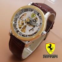 Jual B1 Ferrari Skeleton Leather Combi Brown Lea KODE DG1 Murah