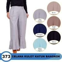 harga Celana Kulot Panjang Model Ruffle Bahan Katun Bangkok Tokopedia.com
