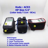 Tas Holder HP Sepeda Motor AC03 | Gojek Grab Uber | Phone | Roswheel