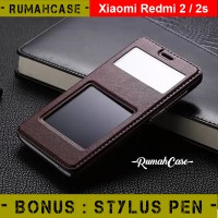 harga Premium Flip Cover Dual View Leather - Xiaomi Redmi 2 2s | Flip Case Tokopedia.com