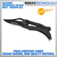 Jual Termurah Columbia Mechanical Folding Knife Medium Size Pisau Lipat ED Murah