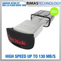 Jual PROMO SanDisk Ultra Fit USB 3.0 Flash Drive 16GB SDCZ43016G Flashdisk Murah