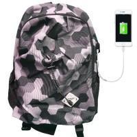 Jual Termurah Leaper Tas Ransel Kampus dengan USB Charger Port Black Hitam Murah