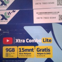 Kartu Perdana XL Paket Internet Kuota 9GB Nomor Cantik Rapih