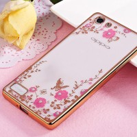 TPU FLOWER Oppo Neo 7 A33 Neo 9 A37 soft case casing back cover thin