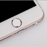 Jual iPhone 7 / 7 Plus Aluminum Touch ID Home Button Sticker - Rose Gold  Murah