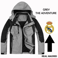 GREY the adventure Real Madrid - Jaket Bola Jaket Taslan Jaket Parasut