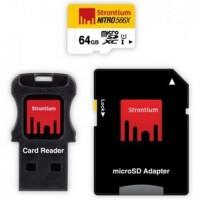 Jual Strontium Nitro 566X MicroSDXC UHS 1 85MB/s Class 10 64GB with Adapter Murah